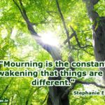Mourning is the constant awakening