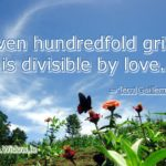grief divisible by love