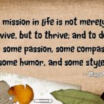 My daily mission to to thrive
