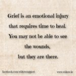 grief is an emotional injury